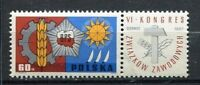 35766) Poland 1967 MNH Polish Trade Unions 1v Label
