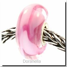 Authentic Trollbeads Glass 61198 Rose Ribbon :0