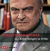 Anmerkungen zu Hitler. 4 CDs von Sebastian Haffner | Buch | Zustand gut