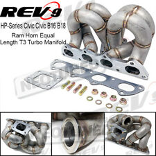 HP RAM HORN KEEP AC/PS Equal Length T3 Turbo Manifold For Honda Civic B16 B18