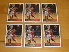 Lot of 6 - 1996-97 Topps Basketball #139 Michael Jordan