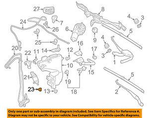 MERCEDES OEM 07-13 S550 Wiper Washer-Windshield-Washer Pump Grommet 1239973681