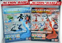 Bandai Action Base 2 Red 2041661 & Action Base 2 Clear Blue 2018319
