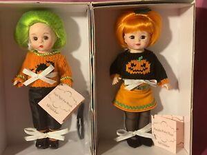 Madame Alexander Pumpkin Perfect Maggie #40425 & Fright Night Fun Wendy #42270
