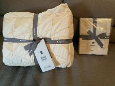 West Elm organic cotton textural full/queen-sized duvet cover and sham unused