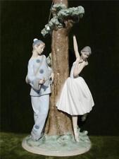 "C.1984 Lladro Spain Porcelain Figurine Harlequin Ballerina Tree Lamp Base H: 22"""