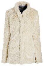 NEXT Cream faux fur Shaggy Fluffy Boho Coat Jacket Size S