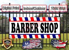 Barber Shop 2x8ft Advertising Vinyl Business Banner Flag Shop Sign Free Shipping