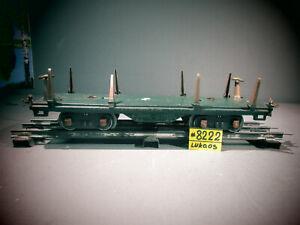 LIONEL PREWAR STANDARD GAUGE #511 GREEN FLAT CAR .
