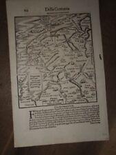 1544 MAP of FRISIA ORIENTALE by SEBASTIAN MUNSTER - DELLA GERMANIA GRONINGEN