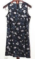 Fashion Bug size 16 Lightweight Blue Floral Sleeveless Shift Dress