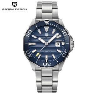 PAGANI DESIGN Date Luxury Men Automatic Mechanical Wrist Watch Stainless Steel