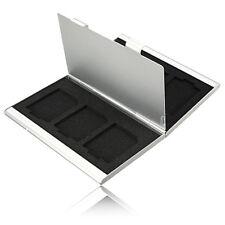 Useful Metal 6x SD SDHC MMC Memory Card Storage Box Case Holder for Canon Nikon