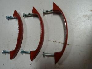 Lot of 3- Cabinet Drawer/Door Handle Pulls Rustic Red