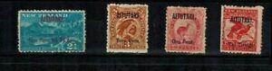 Cook Islands Aitutaki 1903-11 2 1/2d-1s perf 11 Mint O.G. S.G. 4-6 CV L110
