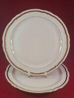"""RAYNAUD CERALENE LIMOGES FRANCE MARIE ANTOINETTE GOLD 2 DINNER PLATE 10 1/4"""""""