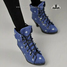 1/4 BJD Shoes MSD Dollfie DREAM Star jean High heels boots MID Luts AOD DOD SOOM