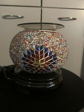 Large Electric Beaded Glass Chip Oil Burner Free Shipping!