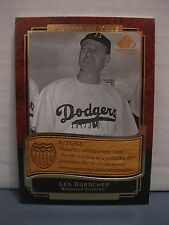 LEO DUROCHER 2003 SP LEGENDARY CUTS ETCHED IN TIME #197/300 BROOKLYN DODGERS