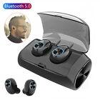Mini Bluetooth Headset Stereo Earphones Hands-free Earbuds 2600mAh Charging Case