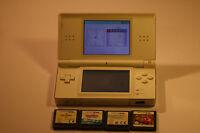 Nintendo DS Lite WHITE Handheld System JOB LOT 4 GAMES