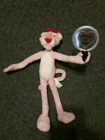 VINTAGE PLUSH PINK PANTHER Animal Inspector Hat Magnifying Glass Poseable RARE