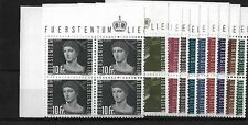 LIECHTENSTEIN 1948 AIR BLOCKS OF 4, MNH, SG259/268, CAT £360++