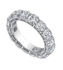 platinum Ring size 4, Gia E-F If-Vs 7 carat Asscher cut Diamond Eternity Band