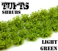 Shrubs TUFTS - 6mm self-adhesive LIGHT GREEN Scenery Miniature Basing Warhammer