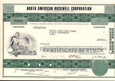 North American Rockwell Corpor. stock certificate (Boeing) Less Than 100 shares