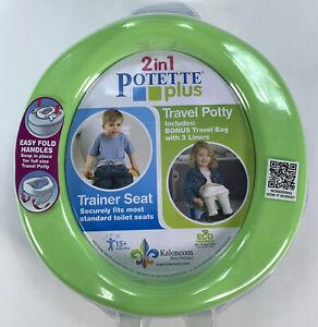 Kalencom Potette Plus 2-in-1 Travel Potty Trainer Seat Mint Green New
