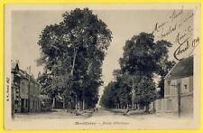 cpa 91 - MONTHLÉRY (Essonne) Route d'ORLÉANS Dos 1900 pour Louise GAUDEBERT
