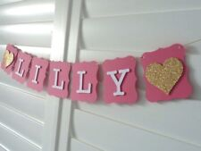 Personalised Custom NAME Banner Bunting Garland - birthday party room decor