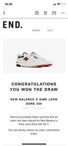 New Balance x Aime Leon Dore 550 White, Red & Navy Size UK7 Confirmed Raffle WIN