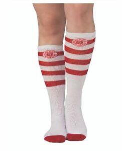 Stripes Socks - Where's Waldo - Red/White - Costume Accessory - Adult Teen