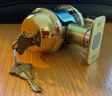 Schlage Polished Brass Double Deadbolt