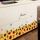 Sunflower Baseboard Wall Sticker Natural Home Décor Pantry Cupboard Vinyl Art