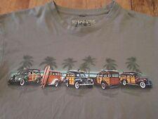 NO BAD DAYS Beachwagon Panel Van Surfing Palmtrees T Shirt Size L