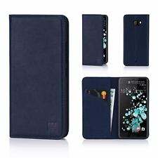 32nd Classic Series - Real Leather Book Wallet Case Cover for HTC U Ultra Htc.uultra.32ndclassic-navyblue Navy Blue