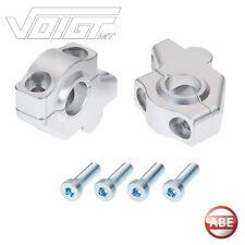 VMT CNC Riser Lenkerversatz bzw. Lenkerverlegung & Lenkererhöhung silber mit ABE