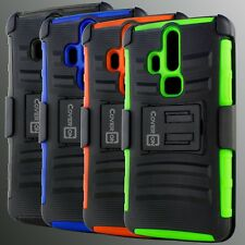 Rugged Belt Clip Holster Phone Combo Protective Cover Case for ZTE Axon Pro