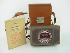BELL & HOWELL 16MM Auto Load Movie Camera w/Original Manual & Leather case-Works
