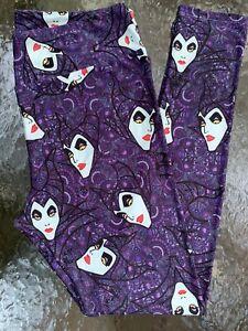 Lularoe Leggings TC Maleficent Purple Paisley DISNEY VILLAINS RARE PRINT HTF