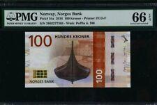 2016 Norway 100 Kroner PMG66 EPQ GEM UNC  <P-54a>