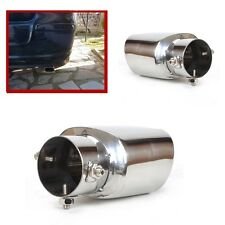 1X STRAIGHT TYPE STAINLESS STEEL EXHAUST TRIM TIP MUFFLER PIPE TAIL TO 63MM