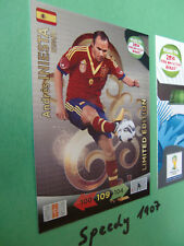 Road to Brazil Limited edition Iniesta Espana Adrenalyn 14 Fifa World Cup 2014