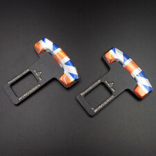 2pcs Union Jack Car Safety Seat Belt Buckle Clamp Stopper Alarm For Mini Cooper