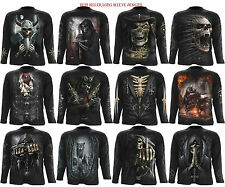 Spiral Direct Skull/Steam Punk/Wolf/Reaper/Gothic/Biker/Long Sleeve T Shirt/Top