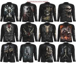 Spiral Direct Skull/Steam Punk/Wolf/Reaper/Gothic/Biker/Long Sleeve T Shirt/Top