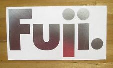 "Stickers Fuji Retro Pro Cut Silver 4"" x 2"""